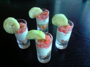 Verrines Saumon concombre